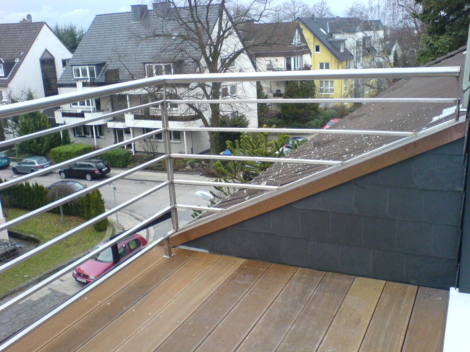 Geländer in Dachgaube zur Terasse