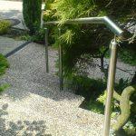 Handlauf aus Edelstahl für Garten