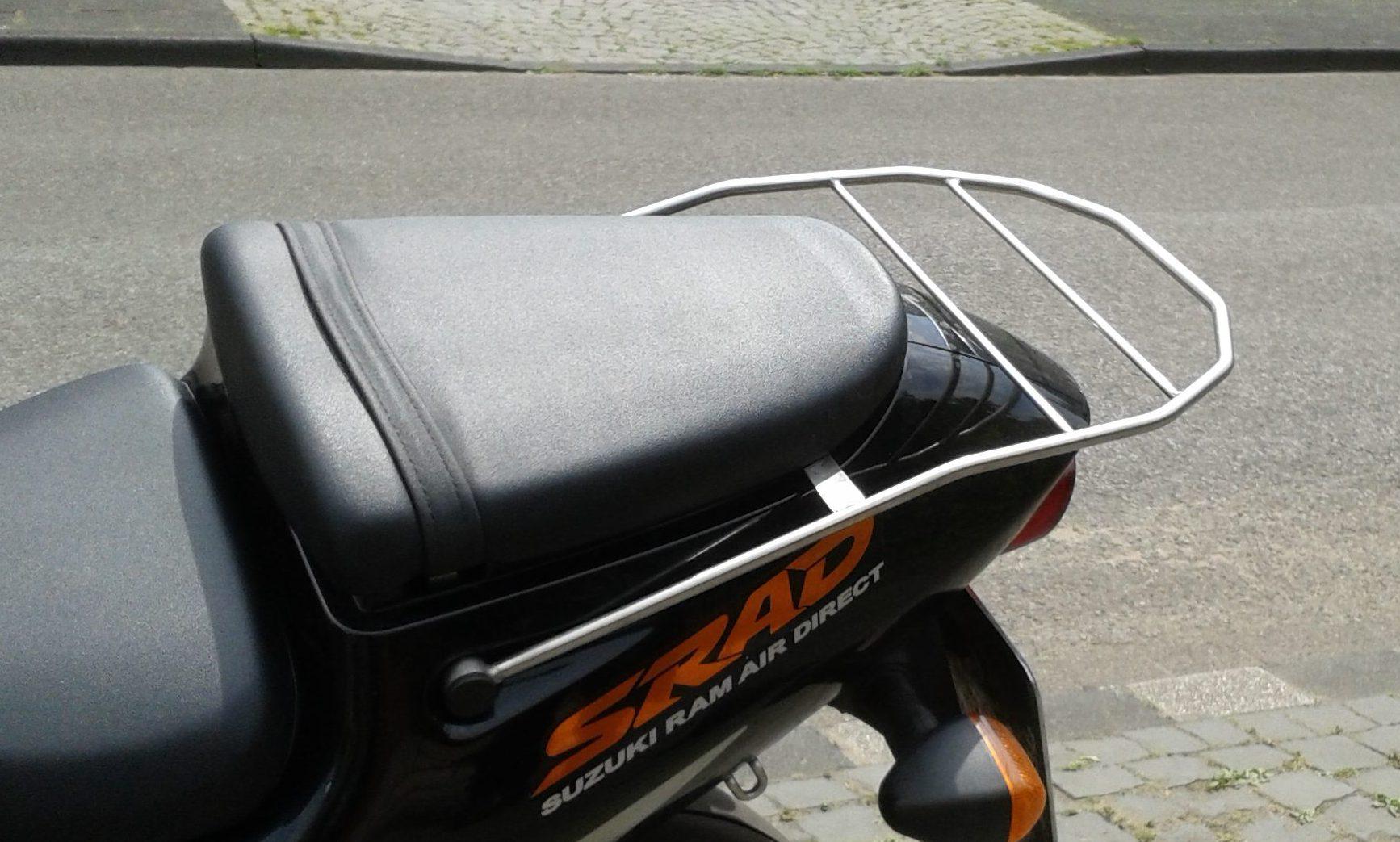 Edelstahl-Gepäckträger für Motorrad