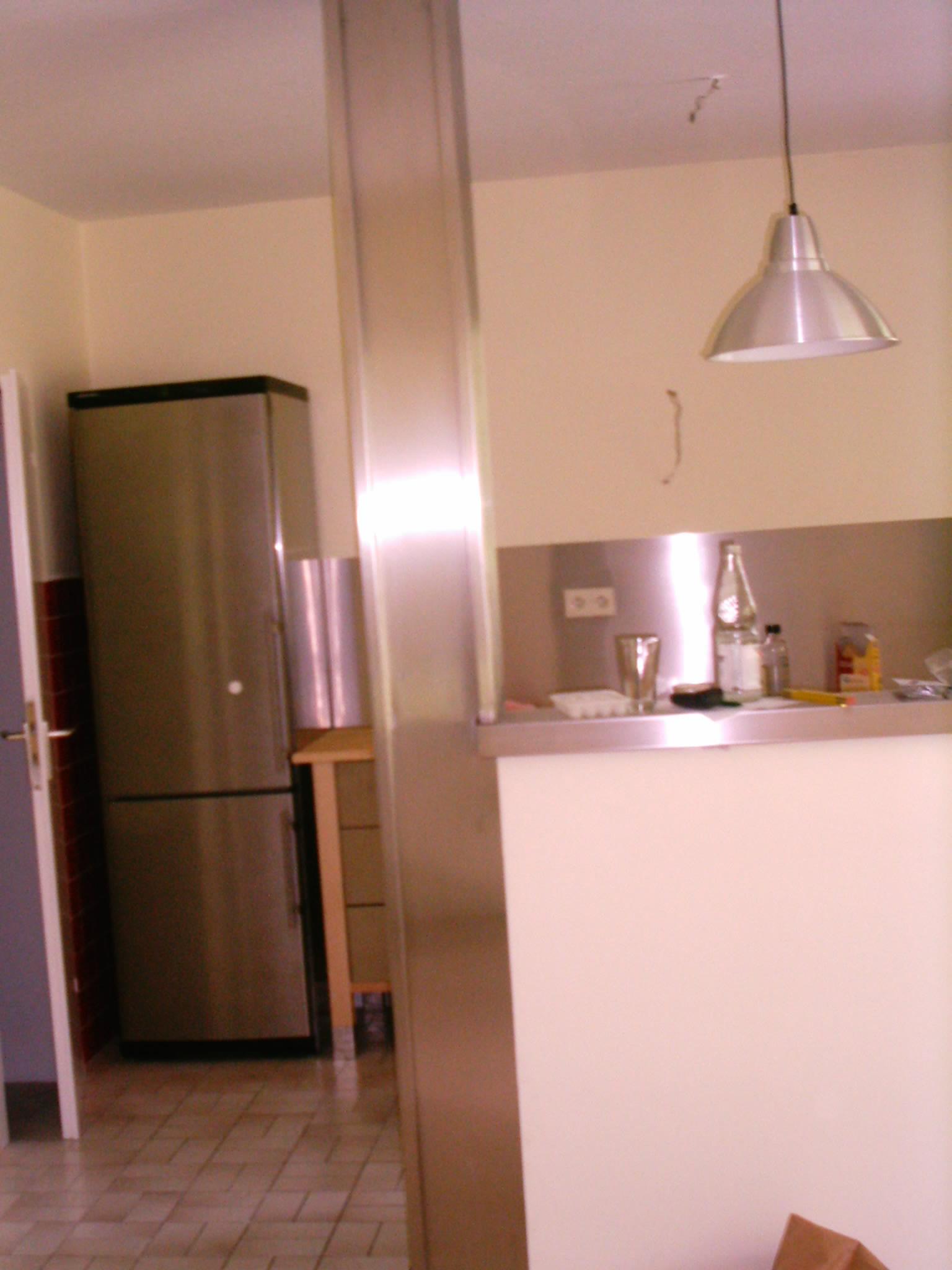 Küchenspiegel in Edelstahl