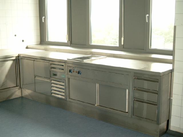 Küchenarbeitsplatte mit Einbau Küchengeräte