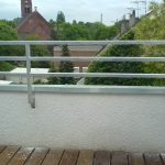 Balkon-Brüstung aus 4-Kantrohr
